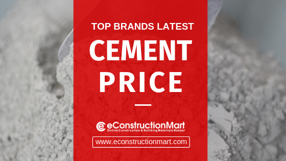 Latest Cement Price with eConstructionMart