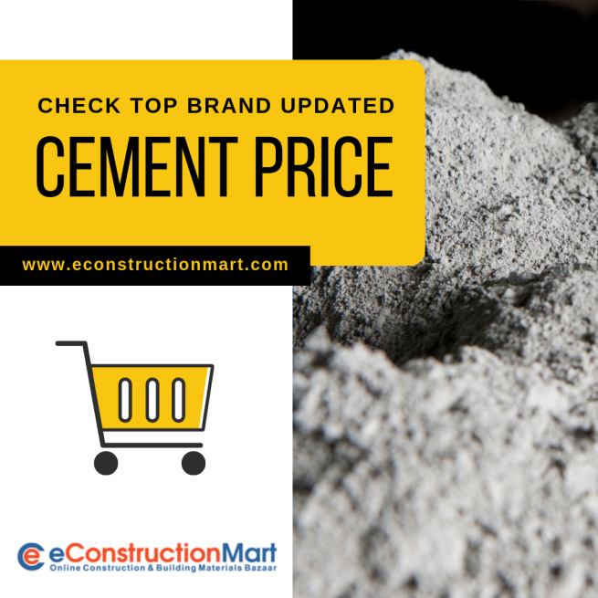 Updated Cement Price online at eConstructionMart